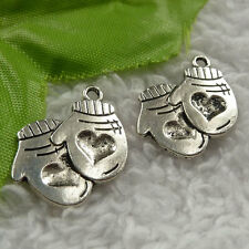 free ship 184 pieces tibet silver mittens charms 23x20mm #4082
