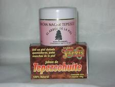 2 Pack)) TEPEZCOHUITE CREAM Mother of Pearl, Rose Hip Oil & SOAP- Acne AntiAging