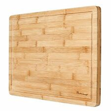 Premium Organic Bamboo [ HEIM CONCEPT ] Extra Large Cutting Board and Serving