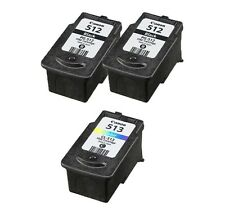 Refilled Ink Cartridge for Canon 2x PG 512 Black 1x CL 513 Color for PIXMA MP240