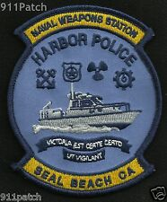 Naval Weapons Station HARBOR POLICE Seal Beach California Military Police Patch