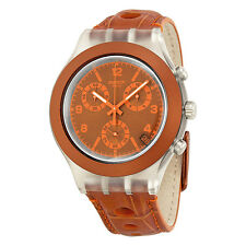 Swatch Rouille Chronograph Orange Plastic Mens Watch SVCK4073