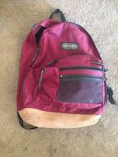 Maroon Backpack Bag RARE OUTDOOR PRODUCTS Vintage  Made in USA Pack leather