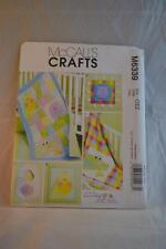 MCCALL'S M6339 Baby Items Pattern Uncut As New Condition FREEPOST IN AUSTRALIA