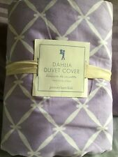 NEW Pottery Barn KIds Dahlia Duvet Cover TWIN Purple