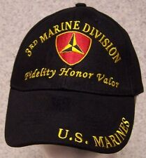 Embroidered Baseball Cap Military USMC 3rd Marine Division NEW 1 size fits all