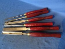 Set of 6 Record power wood turning chisels