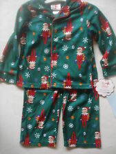 CHILDREN'S HOLIDAY PAJAMAS ELF ON THE SHELF 2T NEW