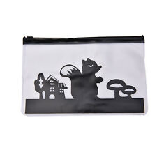 Pencil Pen Case Cosmetic Bag Clear Plastic Makeup Pouch Toiletry Holder New lica