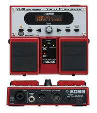 Artista intérprete o ejecutante BOSS VE-20 Vocal Procesador De Efectos Pedal Vocoder & fuente de alimentación