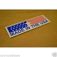 Americana 'Made in The USA' Car Caravan Sticker Decal Graphic - SINGLE