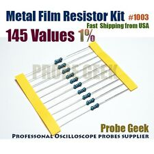 145  Values Total 2900pcs 20pcs Each 1% 1/4W Metal Film Resistor Assorted Kit