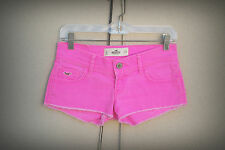 Hollister Size 0-1 Neon Pink Hot Mini Denim Short Shorts