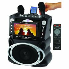 Karaoke System Machine Monitor Video Screen Singing Equipment Microphone Records