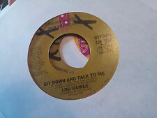 Lou Rawls 45 When You Get Home/Sit Down and Talk to Me Promo 70s Crossover Soul