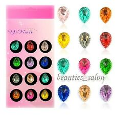 12 Colors Water Drop Design 3D Rhinestone Gem Acrylic UV Gel Nail Art Decoration