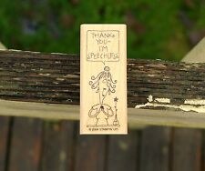 Thank You I'm Speechless Wood Mounted Rubber Stamp 2004 by Stampin' Up!