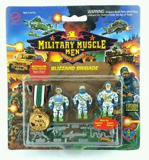 Military Muscle Men ☆ BLIZZARD BRIGADE Action Figures ☆ MOC Carded Vintage 90s