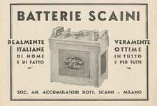 Z1082 Batterie SCAINI - Pubblicità d'epoca - 1934 Old advertising