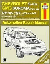 Chevrolet S-10 & Blazer Gmc Sonoma & Jimmy Oldsmobile Bravada Isuzu Hombre: 1994