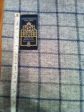 Grey Blue And Green Window Pane Check Handwoven Manx Tweed Fabric 1m 100% Wool