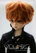 1 4 7-8 Dal BJD SD MSD Wig MDD DOD LUTS DOC Dollfie Doll Toy orange Short wigs