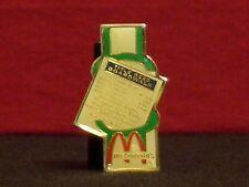 McDonald's Monopoly Boardwalk Deed Vintage 1980's Crew Award Pinback
