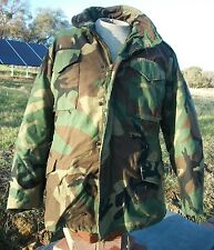 US Military Green Camouflage Insulated Lined Field Coat Jacket Men's MEDIUM