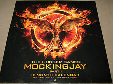 "NEW! The Hunger Games MOCKINGJAY Part 1 I 12 Month 2015 Wall CALENDAR 12""X12"" SS"