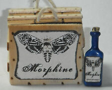 Dollhouse miniature handcrafted 1/12th scale Morphine crate and bottle wood