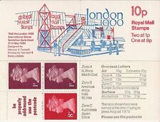 1979 GB QEII ROYAL MAIL POST OFFICE MACHIN STAMP BOOKLET FA10 - LONDON 1980