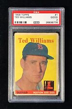 1958 TOPPS #1 TED WILLIAMS - PSA 2 GOOD *Baseball Legend*