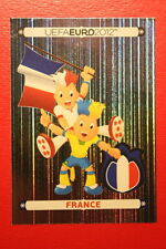 Panini EURO 2012 N. 455 FRANCE MASCOTTE NEW With BLACK BACK TOPMINT!!
