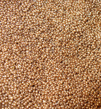 Rose Gold Color Glass Size 18/0 Antique Micro Seed Beads