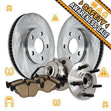 Front OE Brake Rotors and Hub Bearings Pads EXPLORER SPORT RANGER TRAC 4X4 4WD