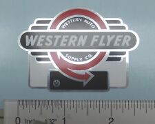 Western Flyer Tricycle badge decal