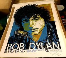 2010 BOB DYLAN NASHVILLE TANGLED UP IN BLUE CONCERT POSTER 10/19 #/210COOPER S/N