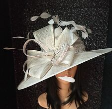 NIGEL RAYMENT COUTURE PALE GREY WEDDING OCCASION HAT MOTHER OF THE BRIDE