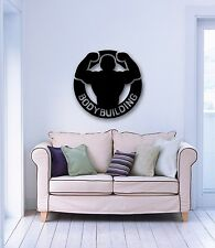 Wall Stickers Vinyl Decal Muscled Bodybuilding Iron Sport Gym (ig327)