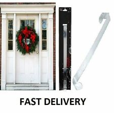 Christmas Wreath Hook,  Holder - Large 'Over the door 28cm Hanger Silver Metal