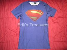 Superman Man Of Steel Fitted Athletic Muscle Shirt NWOT MENS XL