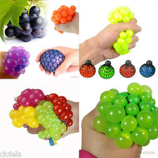 1Pcs Creative Squishy Mesh Ball Grape Squeeze Abreaction Toy Gag in Sensory Gift