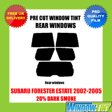 SUBARU FORESTER ESTATE 2002-2005 20% DARK REAR PRE CUT WINDOW TINT