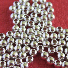 100 Solid Sterling Silver Beads 2mm Round Seamless Look Bead - Top Quality Beads