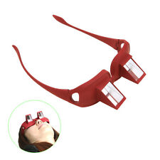 Periscope Spectacles Prism Reading Glasses Lying Down Eyeglass Frame Red New
