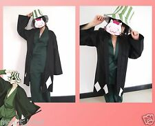 Japanese anime Animation Bleach Urahara Kisuke Cosplay Costume with hat