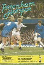 Tottenham Hotspur v Arsenal - Div 1 - 29/3/1982 - Football Programme
