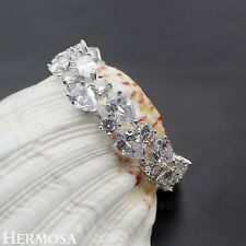 Hermosa® NEW 925 Sterling Silver White Topaz Wedding Party Prom Bracelets 7""