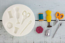 Silicone Mould, Sewing, Scissors, Button Needle Food Safe Ellam Sugarcraft  M026
