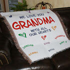Personalized We Love You Tapestry Throw Blanket For Grandma  Mom Christmas Gift